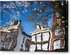 Canal Reflection Acrylic Print by John Battaglino
