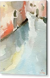 Canal Reflection Watercolor Painting Of Venice Italy Acrylic Print by Beverly Brown