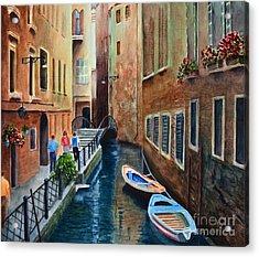 Canal St. Acrylic Print by Karen Fleschler