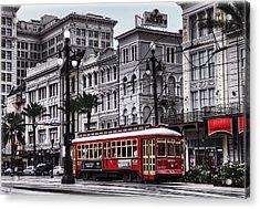 Canal Street Trolley Acrylic Print