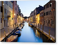 Canale Blu Acrylic Print
