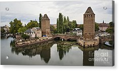 Canals And Medieval Towers Of Strasbourg Acrylic Print by Yefim Bam
