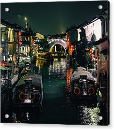 Canals Of Suzhou Acrylic Print