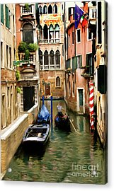 Canals Of Venice Acrylic Print by Susan  Lipschutz
