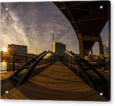 Acrylic Print featuring the photograph Canalside Dawn No 5 by Chris Bordeleau