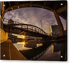Acrylic Print featuring the photograph Canalside Dawn No 6 by Chris Bordeleau