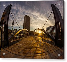 Acrylic Print featuring the photograph Canalside Dawn No 7 by Chris Bordeleau