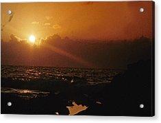 Canary Islands Sunset Acrylic Print by Gary Wonning