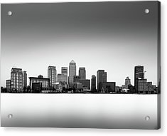 Canary Wharf Skyline Acrylic Print by Ivo Kerssemakers
