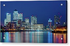 Acrylic Print featuring the photograph Canary Wharf by Stewart Marsden
