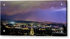 Acrylic Print featuring the photograph Canberra Stormy Night by Angela DeFrias