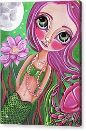 Cancer - Zodiac Mermaid Acrylic Print by Jaz Higgins