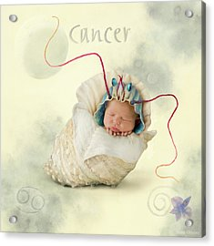 Cancer Acrylic Print by Anne Geddes