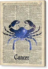 Cancer Crab Zodiac Sign  Acrylic Print by Jacob Kuch