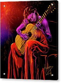 Cancion Del Corazon Acrylic Print by DC Langer
