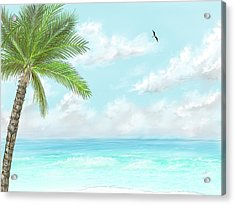 Acrylic Print featuring the digital art Cancun At Christmas by Darren Cannell