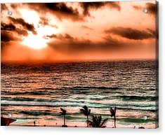 Cancun Sunrise 3 Acrylic Print