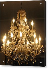 Candelabra Chandelier Acrylic Print by Hasani Blue