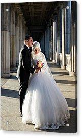 Candid Wedding Shot Acrylic Print