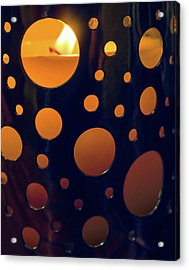 Acrylic Print featuring the photograph Candle Holder by Carlos Caetano