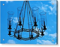 Candle In The Sky Acrylic Print by Hideaki Sakurai