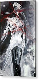 Acrylic Print featuring the painting Candle In The Wind by Jarmo Korhonen aka Jarko