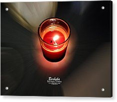 Candle Inspired #1173-3 Acrylic Print by Barbara Tristan