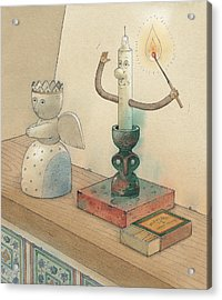 Candle Acrylic Print by Kestutis Kasparavicius