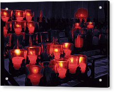 Candle Lights Acrylic Print by Art Spectrum