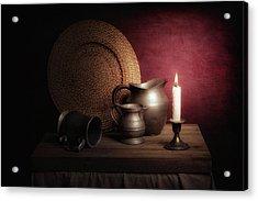 Candle Light Still Life Acrylic Print