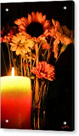 Candle Lit Acrylic Print by Kristin Elmquist