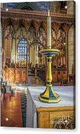 Acrylic Print featuring the photograph Candle Of  Prayer by Ian Mitchell