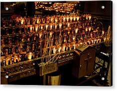 Candle Offerings St. Patrick Cathedral Acrylic Print
