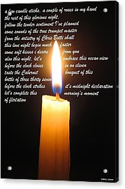 Candle Sticks Acrylic Print by David Norman