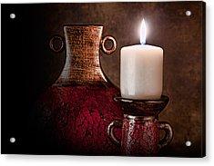Candle Acrylic Print by Tom Mc Nemar