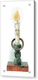 Candle02 Acrylic Print by Kestutis Kasparavicius