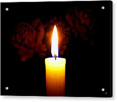 Candlelight And Roses Acrylic Print