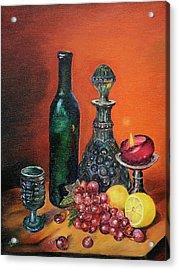 Candlelight Decanter Acrylic Print