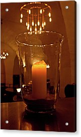 Candlelight Acrylic Print by Jill Smith