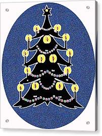 Candlelit Christmas Tree Acrylic Print by Nancy Mueller