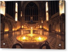 Acrylic Print featuring the photograph Candlemas - Lady Chapel by James Billings
