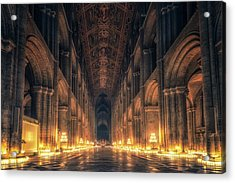 Acrylic Print featuring the photograph Candlemas - Nave by James Billings
