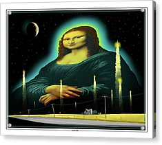 Acrylic Print featuring the digital art Candles For Mona by Scott Ross