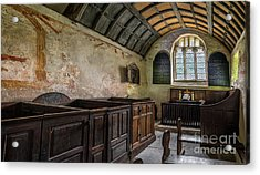 Candles In Old Church Acrylic Print by Adrian Evans