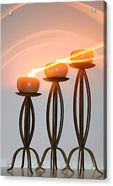 Candles In The Wind Acrylic Print by Kristin Elmquist