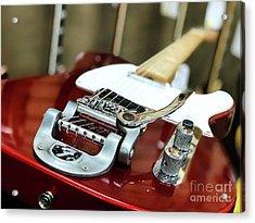 Candy Apple Fender Acrylic Print