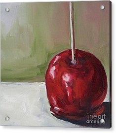 Candy Apple Acrylic Print by Kristine Kainer