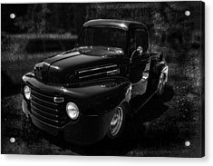 Vintage  F1 Chevy Truck Bw Acrylic Print