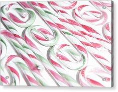 Candy Cane Swirls Acrylic Print