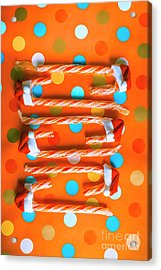 Candy Canes And Christmas Hats Acrylic Print